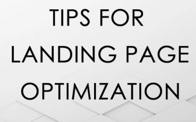 Tips for Landing Page Design Optimization