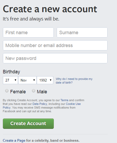 How To Create Facebook Account Seo To Webdesign
