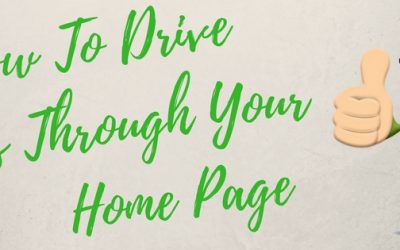 How To Drive Sales Through Your Home Page